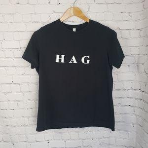 Black T-Shirt HAG 100% Cotton Novelty